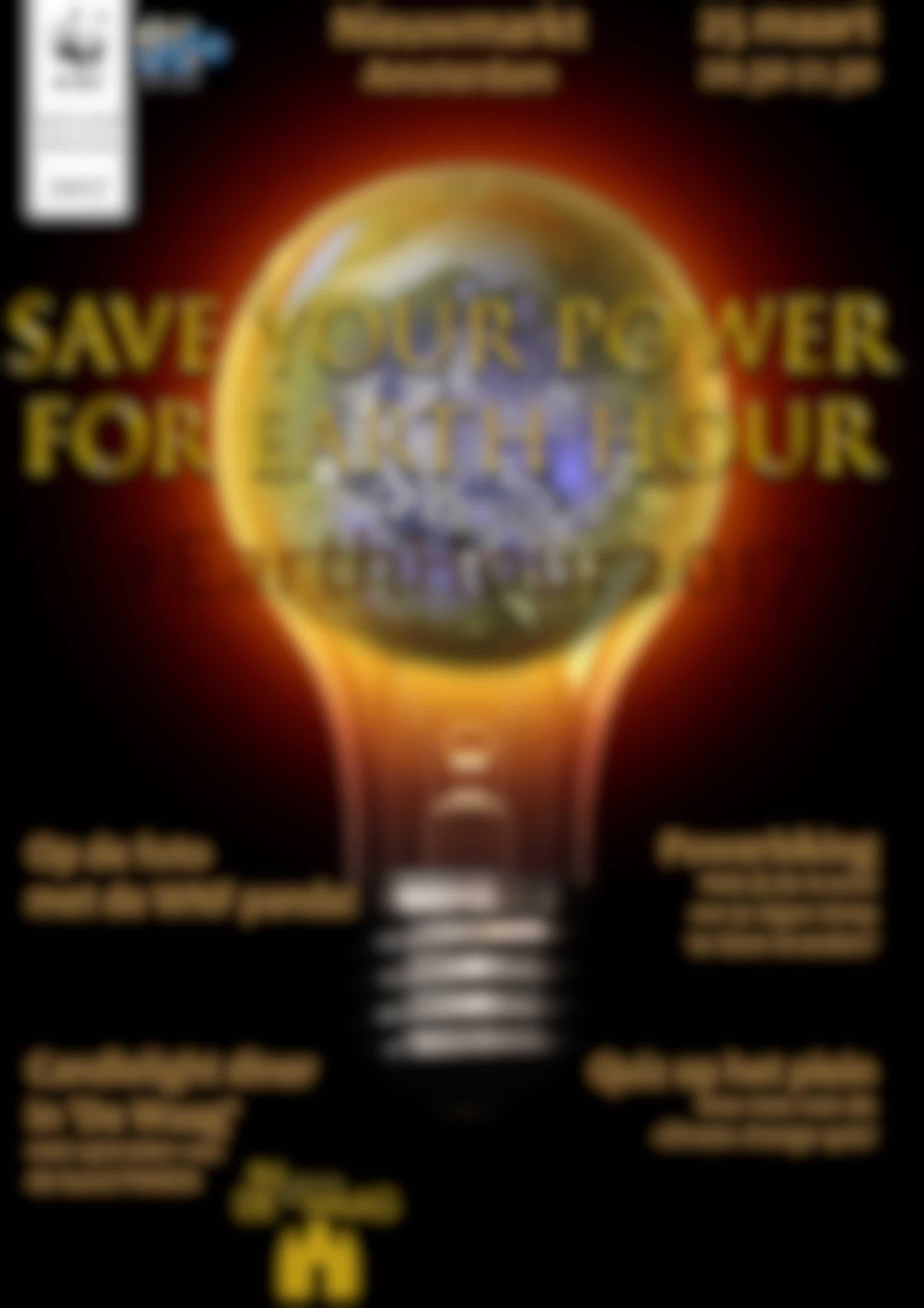 Sluit aan bij WNF Earth Hour Amsterdam :)